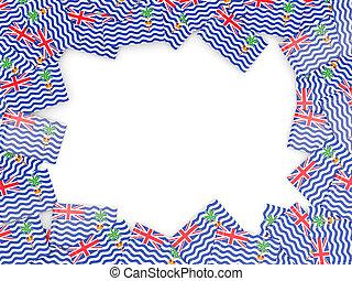 marco, británico, océano, bandera, indio, territorio