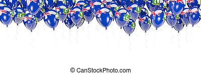 marco, británico, virgen, bandera, islas, globos