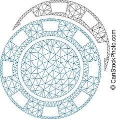 marco, casino, ilustración, polygonal, vector, pedacitos, ...