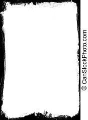 marco, cepillado, tinta
