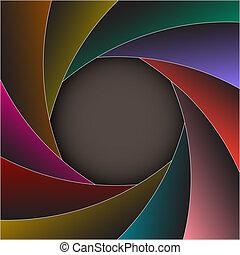 marco, colorido, obturador, foto