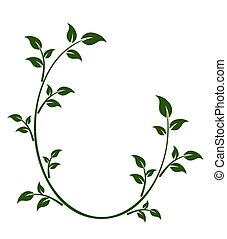 marco, con, árbol, branch.