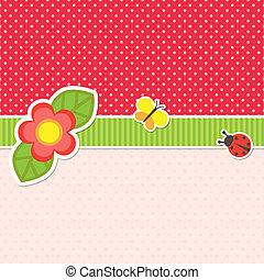 marco, con, flor