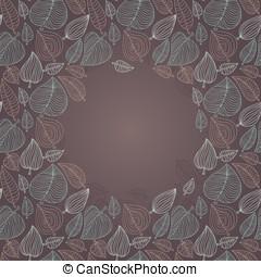 marco, con, hojas
