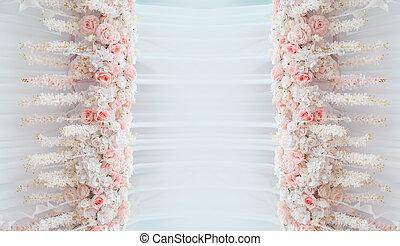 marco, de, flores, con, espacio, para, texto, boda