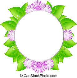 marco, de, hojas
