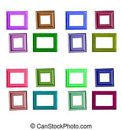 marco de la foto, aislado, plano de fondo, wite