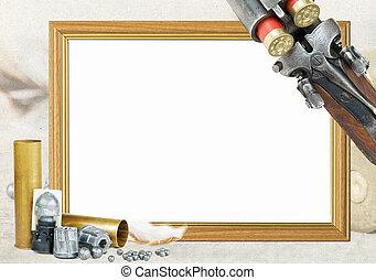 marco de la foto, caza