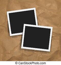 marco de la foto, con, retro, plano de fondo