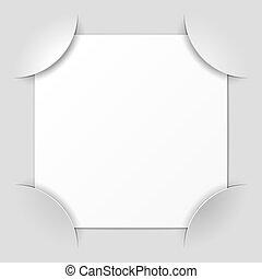 marco de la foto, esquinas