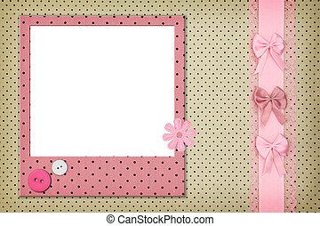 marco de la foto, punto, plano de fondo