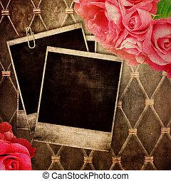 marco de la foto, viejo, plano de fondo, vendimia