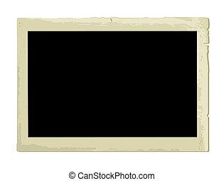 marco de la foto, viejo, (vector)