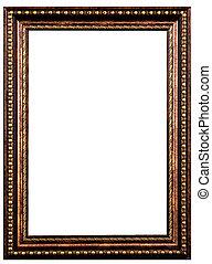 marco de madera, viejo
