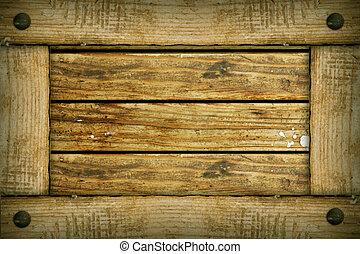 marco de madera, viejo, plano de fondo