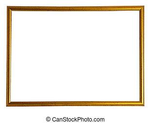 marco, delgado, oro