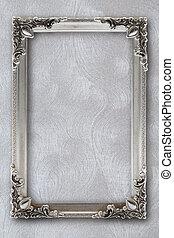 marco, efectos, plano de fondo, plata