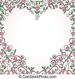 marco, en forma de corazón