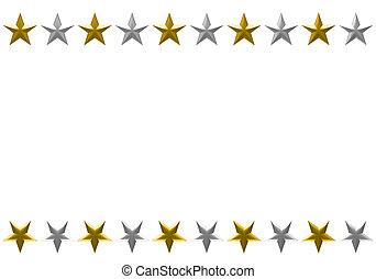 marco estrella, aislado, fondo., navidad blanca