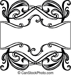 marco, filigrana, ornamento