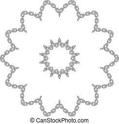 marco, flor, cadena