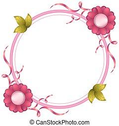 marco, floral, vendimia