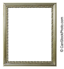 marco, fondo blanco, plata