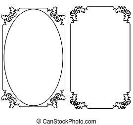 marco, frontera, diseño