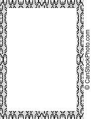 marco, fronteras, adornado, plano de fondo, blanco