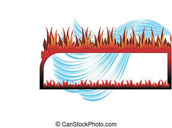 marco, fuego, y, agua