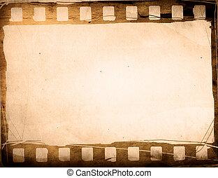 marco, grunge, efecto, película