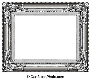 marco, imagen, plata