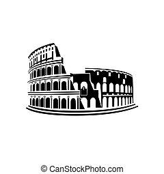 marco, itália, coliseum