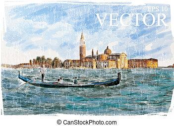 marco, itália, piazza, veneza, -, san