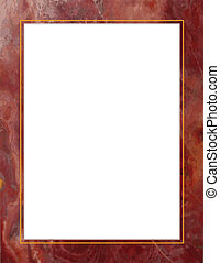 marco, mármol, rojo