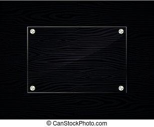 marco, madera, negro, acrílico, plano de fondo