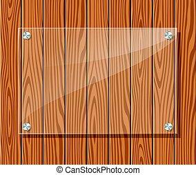 marco, madera, transparente, plano de fondo