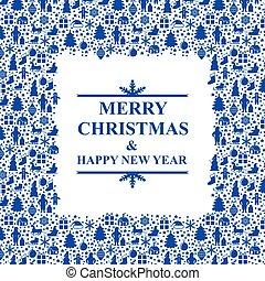 marco, navidad, saludo