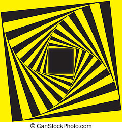 marco, negro, espiral, amarillo