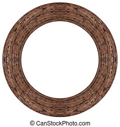 marco, oval, madera, imagen