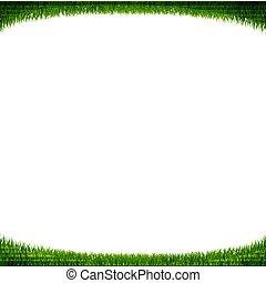 marco, pasto o césped, verde blanco, plano de fondo