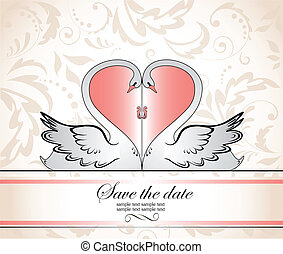 marco, saludo, boda