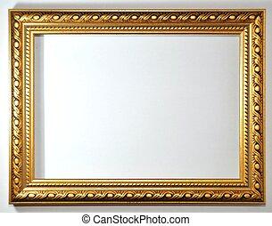 marco vacío, blanco, plano de fondo