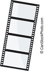 marco, vector, ilustración, película