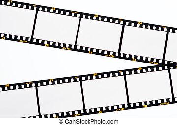 marcos, diapositiva, tiras, vacío, película