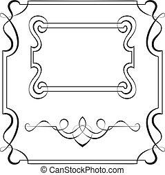 marcos, diseño, vector, conjunto