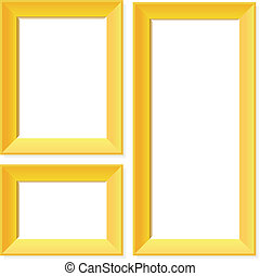 marcos, dorado, blanco