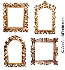marcos, imagen, oro
