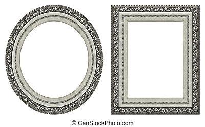 marcos, imagen, plata