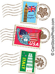 marcos, jogo, selos